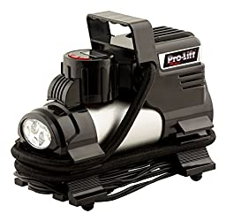 Pro-Lift W-1808 12V Air Inflator with Digital Gauge (Preset Tire Pressure, LED Display)