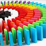 Sarsaparilla ドミノ 倒し ゲーム 木製 おもちゃ カラフル 積み木にも (100弧セット)