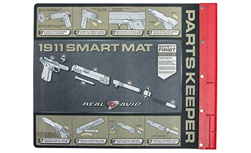 Real Avid 1911 Smart Mat- 19-inch by 16-inch Gun Cleaning Mat with Illustrated 1911 Takedown Instructions and Magnetic Parts Keeper (Guns Real Pistol compare prices)