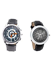 Foster's Men's Grey Dial & Foster's Women's Black Dial Analog Watch Combo_ADCOMB0002329