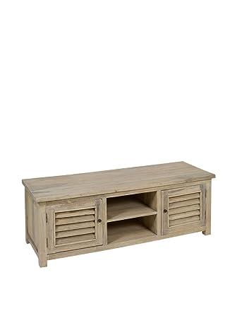 TV aged wood table