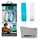 Xfit Wireless Bluetooth Activity / Fitness Tracker With Sleep Monitor - Includes 2 Colored Bands in Total Works for Iphone 6, 6 Plus, 5s, 5c, 5, 4s, Samsung Galaxy S5, S4, S3, Note 2, Tab 4, Ipad 3, Ipad Air, Mini, Ipad, Ipad Retina, Ipad Touch Gen 5 or newer - (Turquoise/Gray)