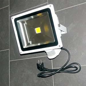 30 W LED Fluter Strahler PIR Bewegungsmelder WARMWEISS IP44