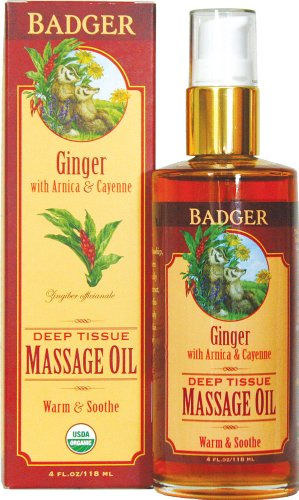 Badger Ginger Deep Tissue Massage Oil 4oz