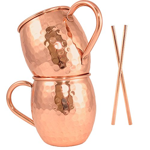 16 Oz Moscow Mule Copper Mug Gift Set