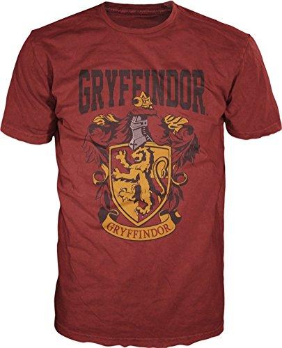 Harry Potter- Gryffindor Shield T-Shirt Size L,red
