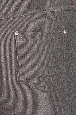 Women's Summer Cotton Spandex Pull On Capri Jeggings, Grey, L
