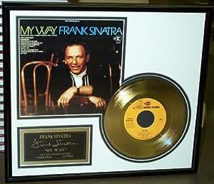 "Frank Sinatra ""My Way"" Framed 24 Karat Gold Plated 45 Record"