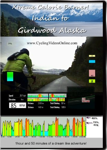 Xtreme Calorie Burner! Indian to Girdwood. Virtual Indoor Cycling Training / Spinning Fitness and Weight Loss Videos