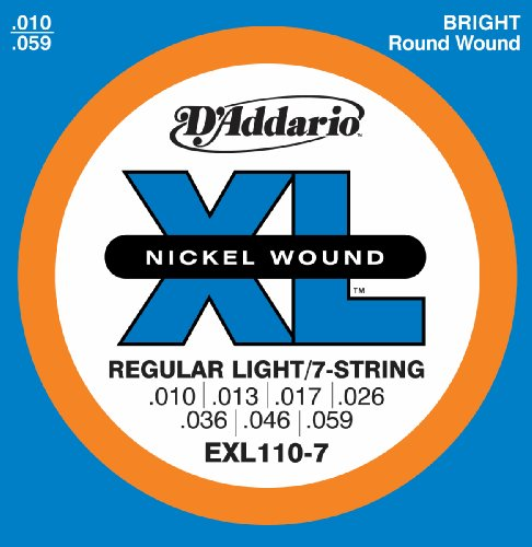 D'Addario EXL110-7 7-String Nickel Wound Electric