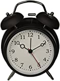 "HITO™ 4"" Silent Quartz Analog Twin Bell Alarm Clock with Nightlight and Loud Alarm (NO1)"