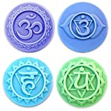 Milky Way Chakras 4 Soap Mold Tray - Melt and Pour - Cold Process - Clear PVC - Not Silicone - MW 163