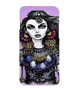 PrintVisa Beautiful Girl Art 3D Hard Polycarbonate Designer Back Case Cover for Infocus M2