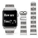 Iwatch Bands 42mm Leather,Apple Iwatch Strap Sport Leather Elegant Original Replacement Charming Sexy Lace