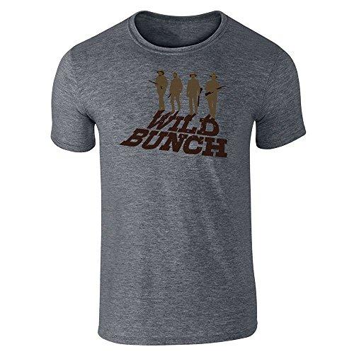 Pop fili da uomo Wild Bunch minimalista occidentale film Ventola a manica corta t-shirt Dark Heather Gray X-Large