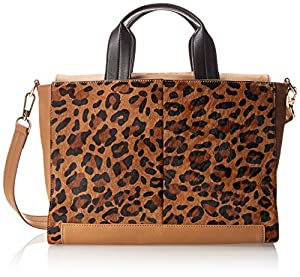 French Connection Cosmic Hair Tote,Leopard Hair,One Size