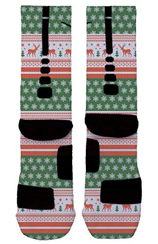Ugly Christmas Sweater Nike Elite Socks