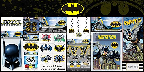 [Batman 65 Piece Party Kit - Decorating & Party Favors - DC Comics - Ultimate Batman Party Kit] (Dark Knight Costumes Real)