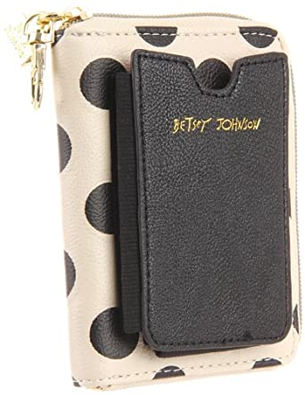 Betsey Johnson BS35205 Wallet,Black,One Size