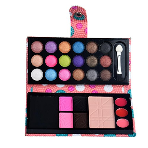 Eye shadow Sandistore 26Colors Eye Shadow Makeup Cosmetic Eyeshadow Blush Lip Gloss Powder (Pink)