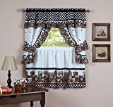 Royal Decorative Printed Kitchen Curtain Cottage Set using
