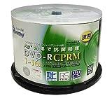 SMARTBUY DVD-R CPRM対応 4.7GB 1回録画用 インクジェットプリンタワイドな印刷対応 1-16倍速 抗菌仕様 スピンドルケース50枚入り SBC16X50PW