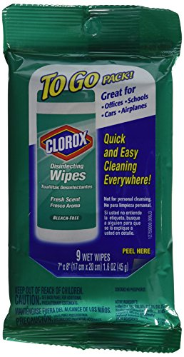 Clorox Disinfecting Wipes, Fresh Scent, To Go Pack!, 9 ct. (6 Pack) (Clorox Commercial Wipes compare prices)