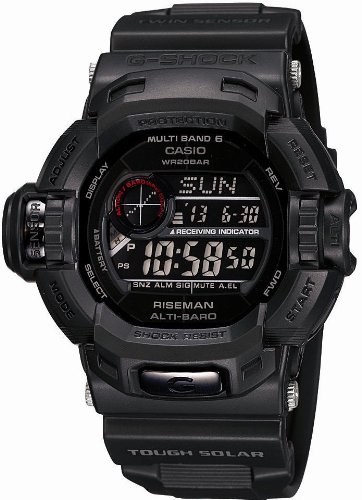CASIO (カシオ) 腕時計 G-SHOCK Men in Mat Black メン・イン・マット・ブラック RISEMAN タフソーラー 電波時計 MULTIBAND 6 GW-9200MBJ-1JF メンズ