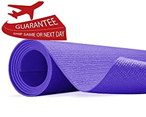 "Yes4All Premium PVC Yoga Exercise Mat (Exclusive Purple Yoga Mat - 68""x5mm)"