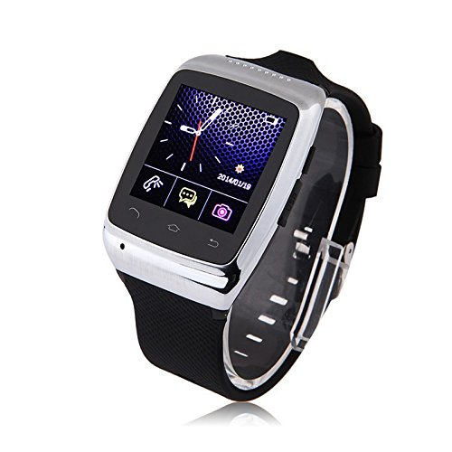 "LEMFO® Bluetooth Smart Watch WristWatch Luxury 1.54"" Touch Screen ZGPAX S15 Smartwatch Phone Sync Built-in 8G Memory 2.0M Camera for Android Smartphones 2014 Newest (Silver)"