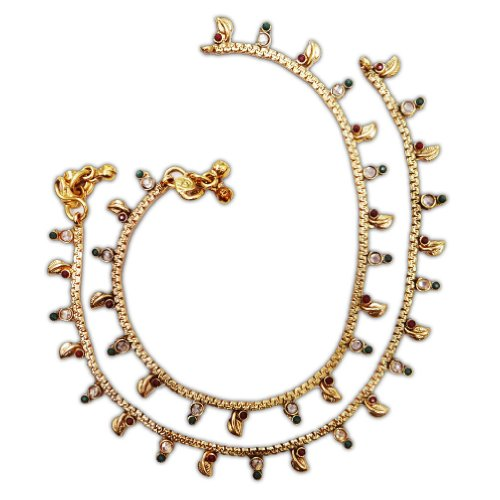 Iba Traditional Indian Gold Tone Bollywood Anklet