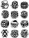 Ten (10) Silver Assorted Flower and P…