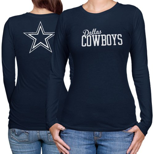 Dallas Cowboys Women's Navy Marquee Long Sleeve T-Shirt - Dallas ...