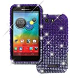 Empire Light Purple Fade Diamante Bling Case for Motorola Photon Q 4G LTE XT897