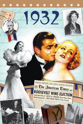 80th Birthday Gifts - 1932 DVD Film , 1932 Chart