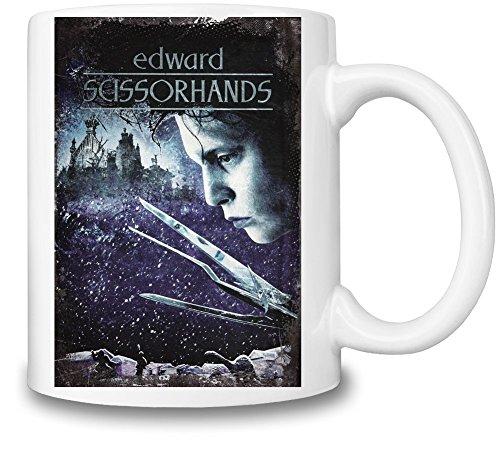 Edward Scissorhands Poster Tazza Coffee Mug Ceramic Coffee Tea Beverage Kitchen Mugs By Slick Stuff