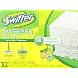 Swiffer 80240126 Sweeper Dry Sweeping Cloths Mop and Broom Floor Cleaner Refills, Gain Original Scent, 32-Count, White