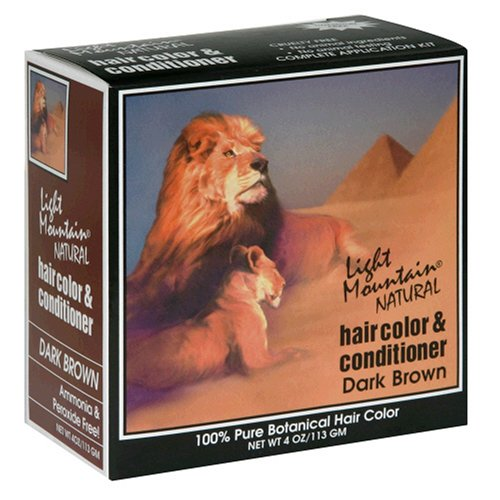 Light Mountain Natural Hair Color & Conditioner, Dark Brown, 4 oz (113 g) (Pack of 3) (Light Mountain Henna Hair Color compare prices)