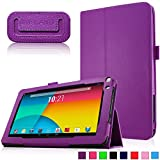 Infiland Premium Vegan Leather Case Cover for 9-Inch Android Tablet inclu. 9' Upgraded Dual Core Android Tablet PC, Haehne 9 Inch Android Tablet, JYJ 9 Inch Android 4.4 Kitkat Tablet PC, YONES 9' AMDROID 4.4 KITKAT TABLET PC, ProntoTec 9 Inch Touch Screen Tablet PC, Tagital T9X 9' Quad Core Android Tablet , TotalTab V3 9', Afunta 9', TabExpress 9' (PLEASE check the complete compatible tablet list under Product Description)(Purple)