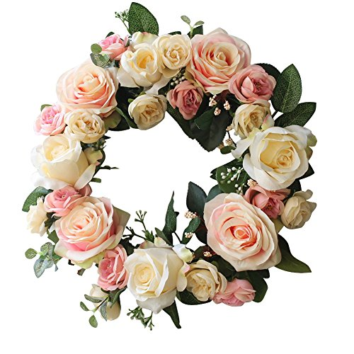 Rose Wreath Home Wall Decor Wedding Decorations