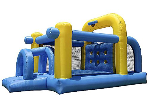 Cloud-9-Tunnel-Course-Bounce-House-Inflatable-Climbing-Obstacle-with-Basketball-Hoop-wout-Blower