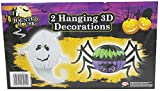 Haunted House 2 Hanging Concertina 3D Halloween Decorations Ghost And Spider Great Halloween Party Decoration