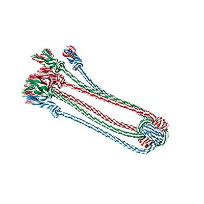 Gor Pets Dog Chew Toy 1-Knot Cotton Rope Tug with Spider Legs