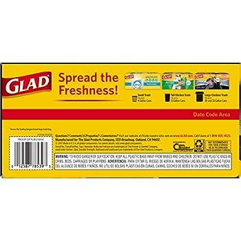 Glad Dual Defense Large Drawstring Trash Bags - 30 Gallon - 50 Count