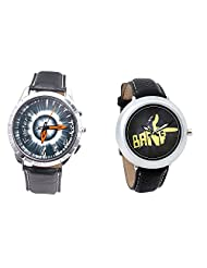 Foster's Men's Grey Dial & Foster's Women's Black Dial Analog Watch Combo_ADCOMB0002330