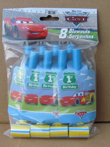 Disney Cars 1st Birthday Blowouts 8ct - 1