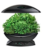 AeroGarden 7-Pod Indoor Garden with Gourmet Herb Seed Kit, Black