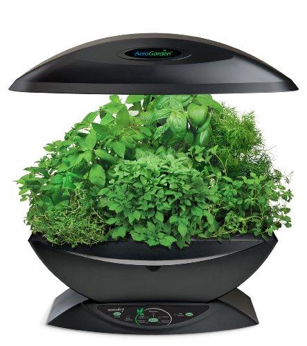 AeroGarden Classic 7-Pod with Gourmet Herb Seed Kit, Black