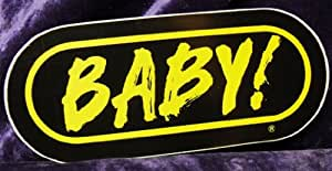 WRIF FM Detroit Baby Sticker Black and Yellow