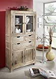 Palisander Holz massiv Schrank Sheesham Massivmöbel Nature Grey